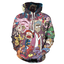 Load image into Gallery viewer, Rick and Morty 3d digital printing hooded pullover sweater