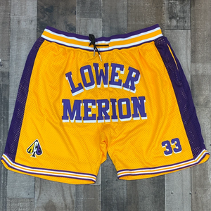 HEADGEAR CLASSICS- KOBE YELLOW/PURPLE SHORTS