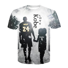 Load image into Gallery viewer, Kobe short sleeve 3D printed T-shirt