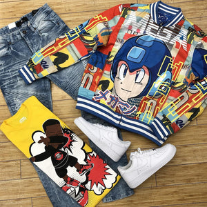 Cartoon animation fashion warm jacket