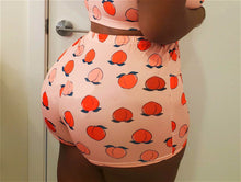 Load image into Gallery viewer, Peaches print cute booty shorts