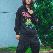 Load image into Gallery viewer, Fire print fashion men's hoodie