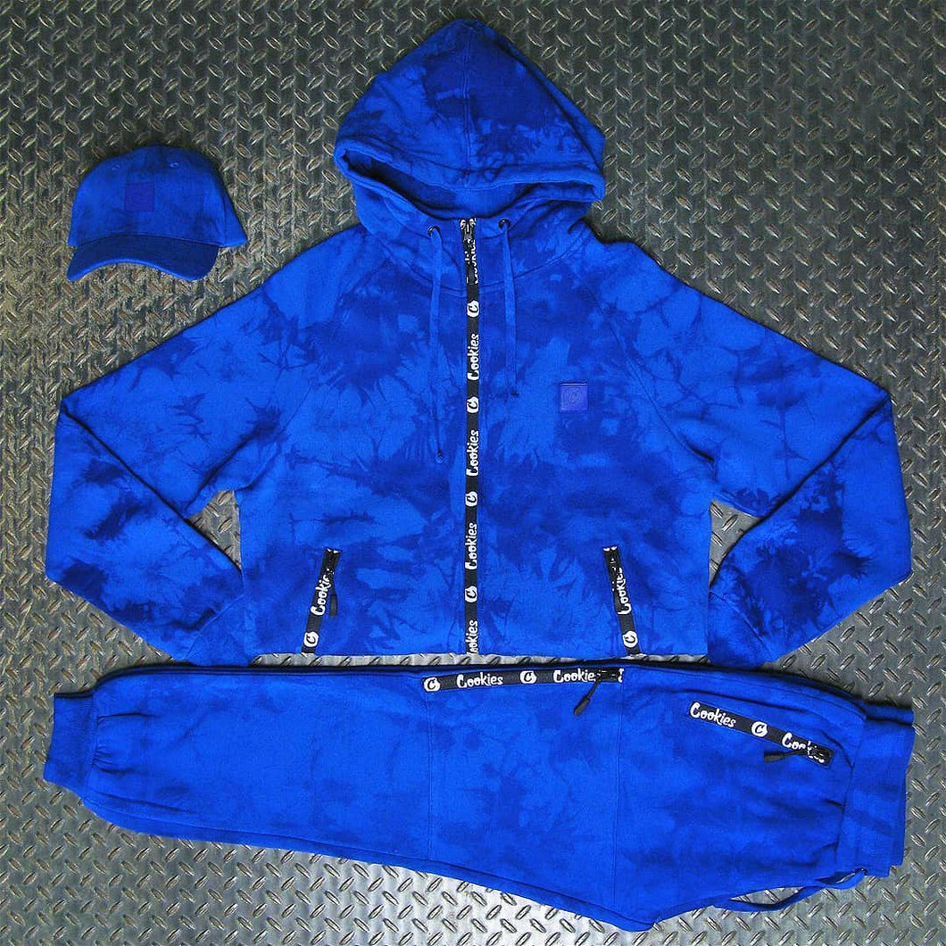Zipper design cookies hoodie&sweatpant set