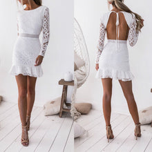 Load image into Gallery viewer, Open back waist lace dress