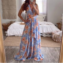 Load image into Gallery viewer, V-neck floral print  maxi dress