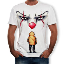 Load image into Gallery viewer, Men's casual clown 3D digital printed T-shirt