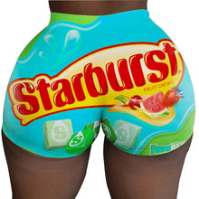 Load image into Gallery viewer, Snacks print sexy women booty shorts