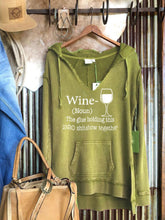 Load image into Gallery viewer, WINE LONG SLEEVE TOPS