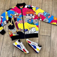 Load image into Gallery viewer, Nickelodeon jacket cartoon print fashion jacket