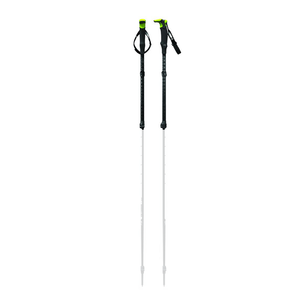 VIA CARBON Ski Pole Replacement Upper Shaft and Handle