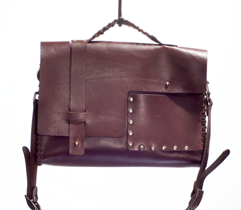 LT01 WHIP STITCHED LAPTOP BAG