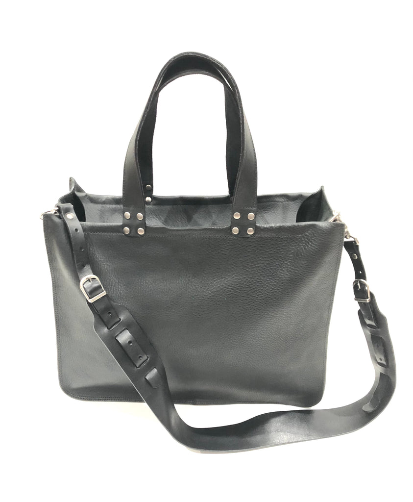 B15 STRAP TOTE W/TOP ZIPPER & INTERIOR POCKET
