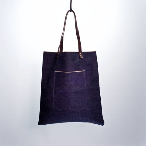 DENIM SHOPPING TOTE