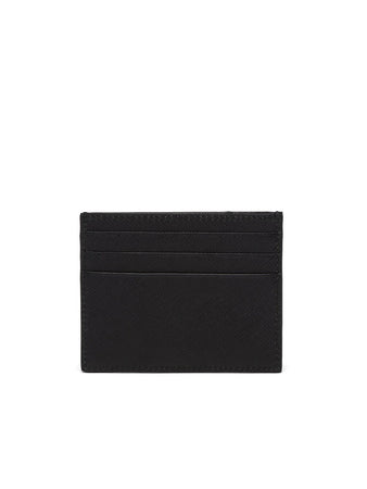 Saffiano Leather Card Holder in Black