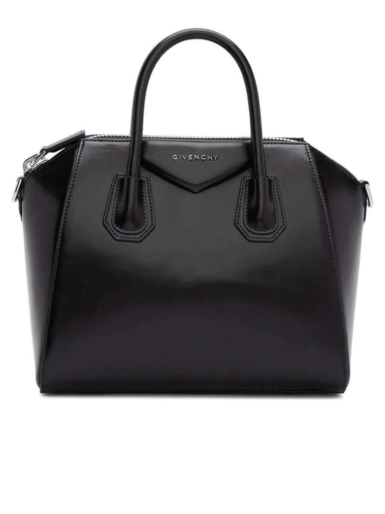 Antigona Small Black Smooth Leather Handbag
