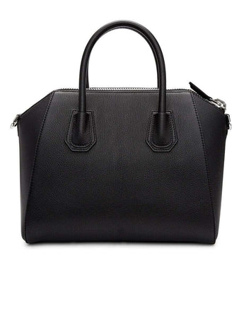 Antigona Small Black Grained Leather Handbag back