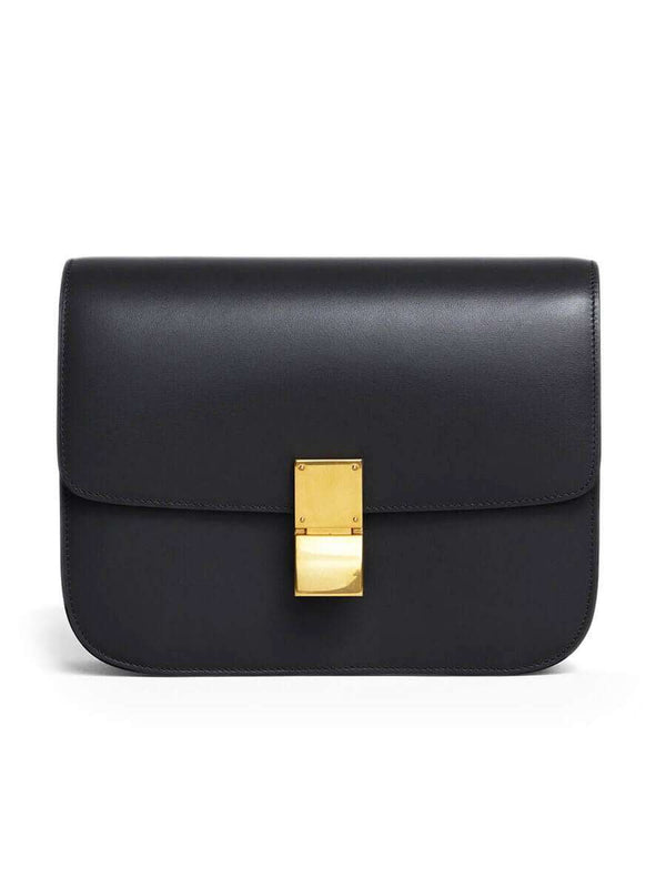 Medium Classic Bag In Black Box Calfskin