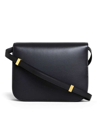 Medium Classic Bag In Black Box Calfskin back