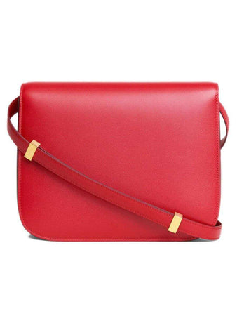 Medium Classic Bag In Red Box Calfskin back