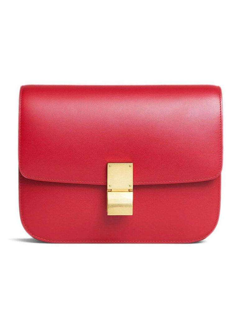 Medium Classic Bag In Red Box Calfskin
