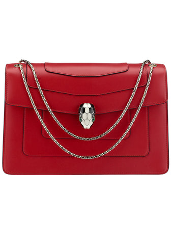 Serpenti Forever Shoulder Bag in Ruby Red