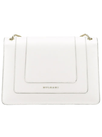 Serpenti Forever Shoulder Bag in White Agate