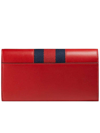 Sylvie Continental Wallet Red Leather back