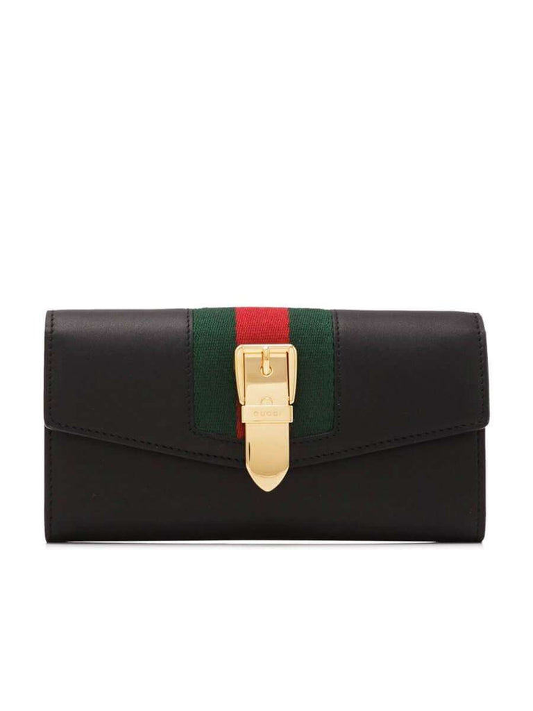 Sylvie Continental Wallet Black Leather