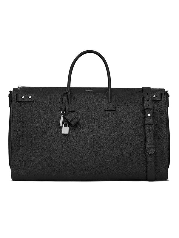 Sac De Jour 48H Black Grained Leather Duffle Bag