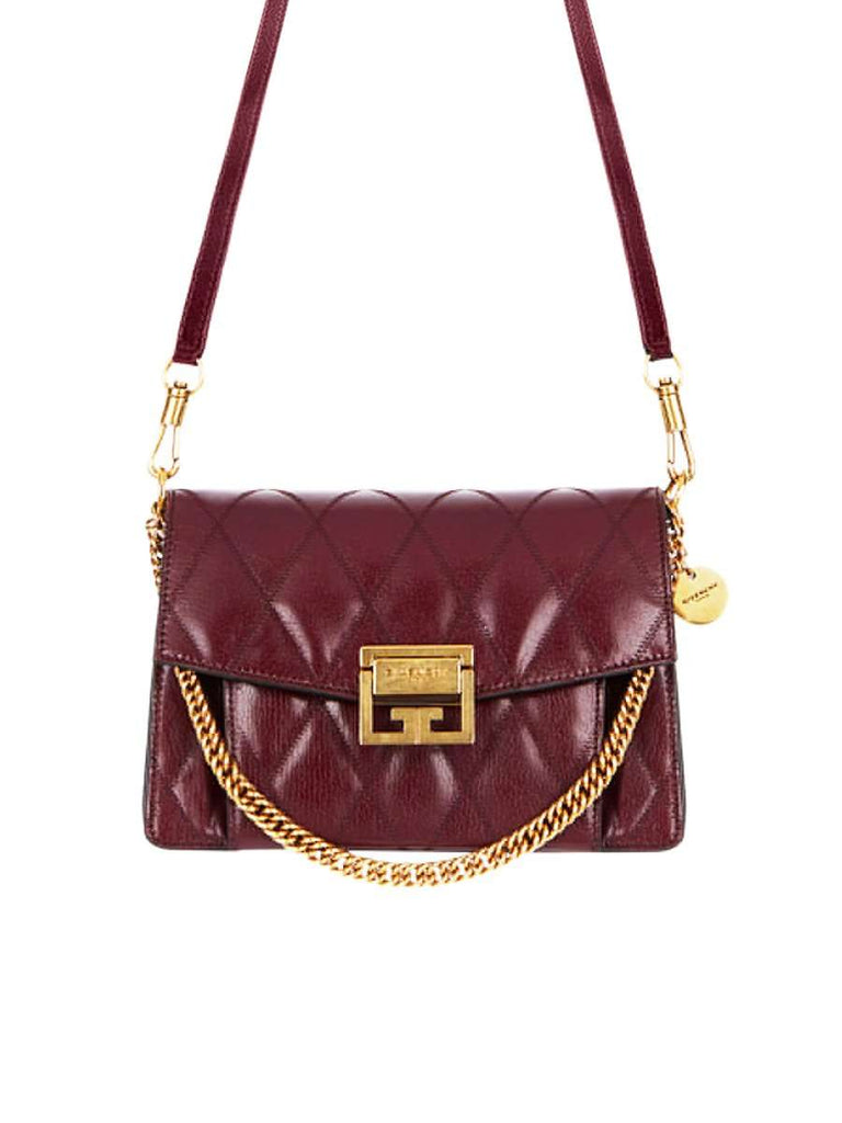 Medium GV3 Bag In Eggplant Diamond Quilted Leather