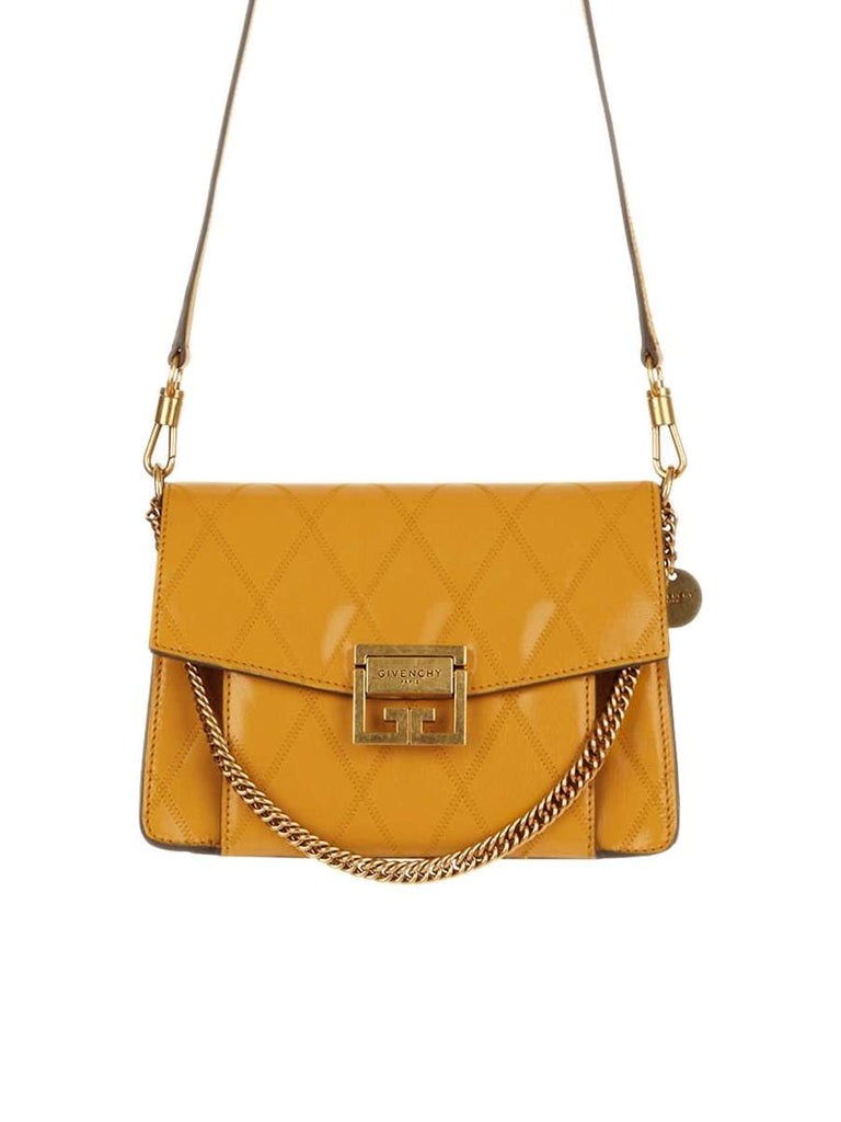 Small GV3 Bag In Golden Diamond Quilted Leather