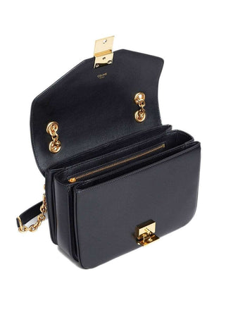 Medium C Bag in Black Shiny Calfskin open