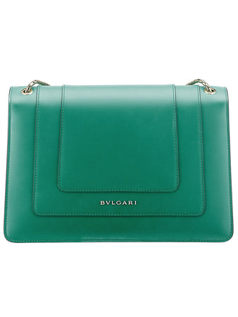 Serpenti Forever Shoulder Bag in Emerald Green