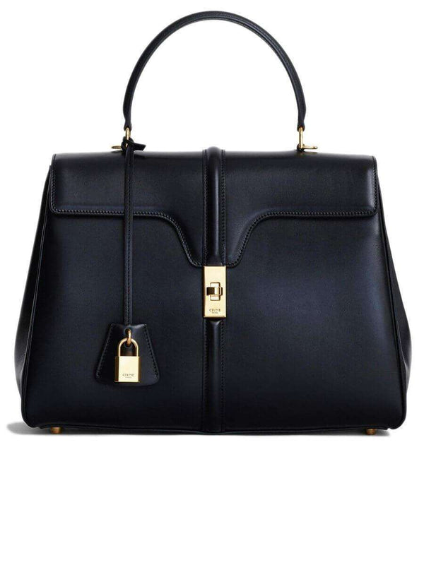Medium 16 Bag in Black Satinated Calfskin