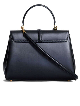 Medium 16 Bag in Black Satinated Calfskin back