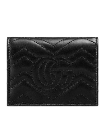 GG Marmont Black Leather Card Case brand