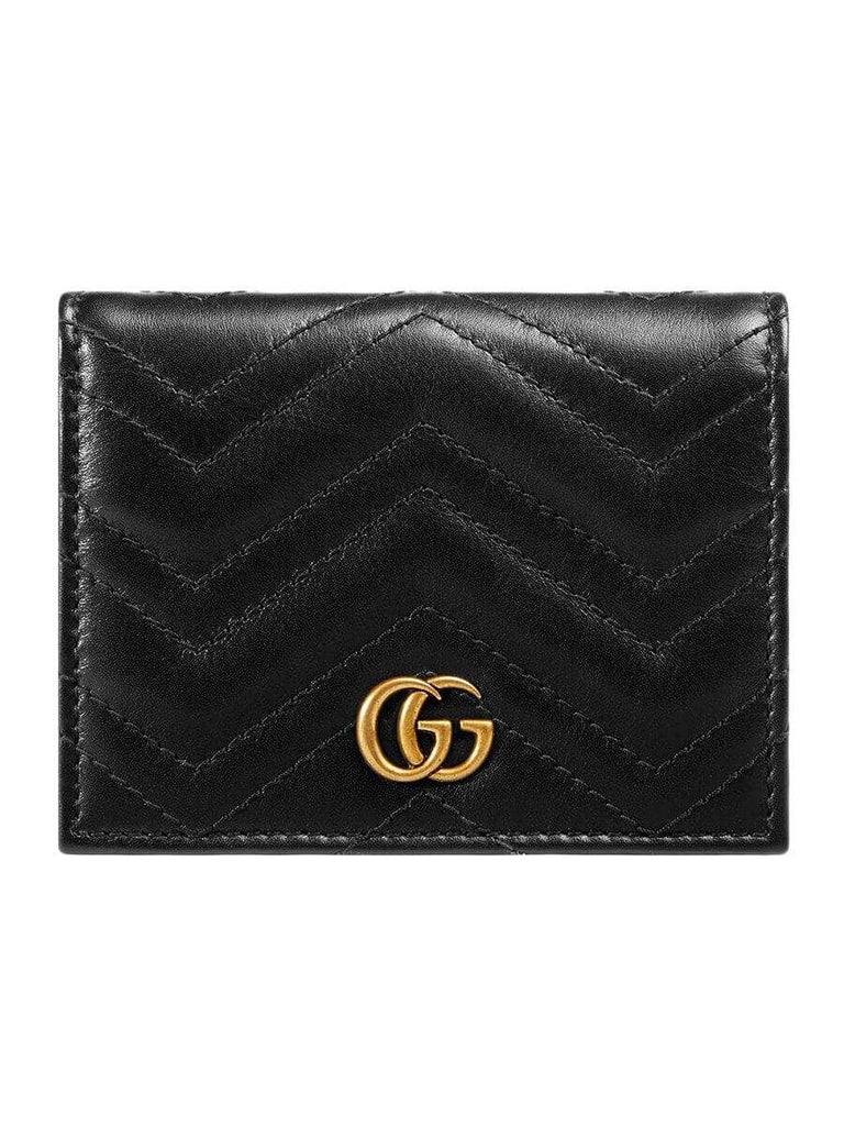 GG Marmont Black Leather Card Case