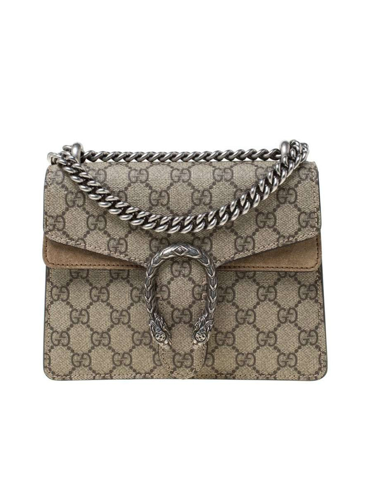 Dionysus Mini GG Supreme Beige & Ebony Chain Bag