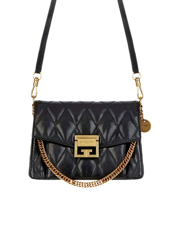Small GV3 Bag In Black Quilted Leather