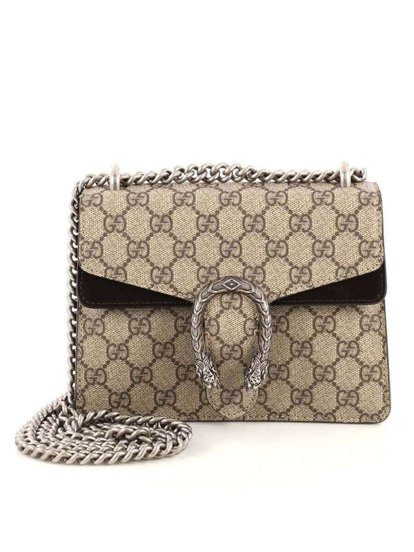 Dionysus Mini GG Supreme Black & Ebony Chain Bag