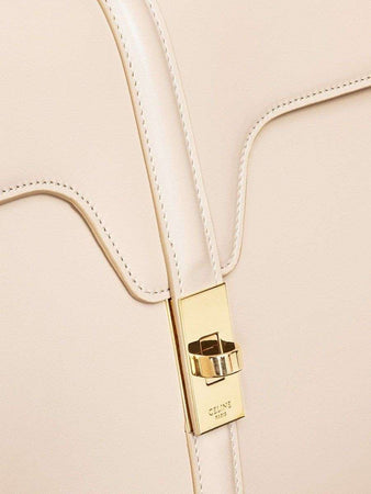 Medium 16 Bag in Nude Satinated Calfskin lock