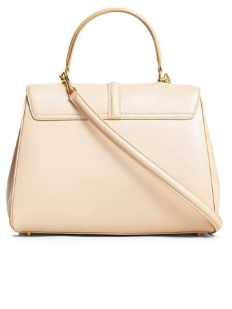 Medium 16 Bag in Nude Satinated Calfskin back