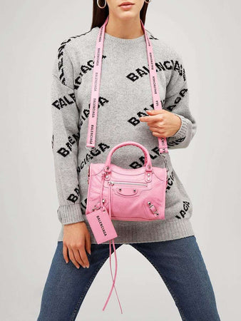 Mini Classic City Pink Leather Tote