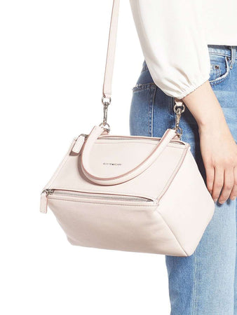 Pandora Small Pale Pink Grained Leather Tote Bag