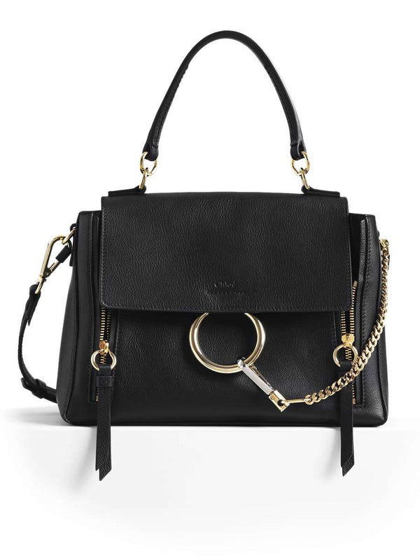 Small Faye Day Black Leather Shoulder Bag