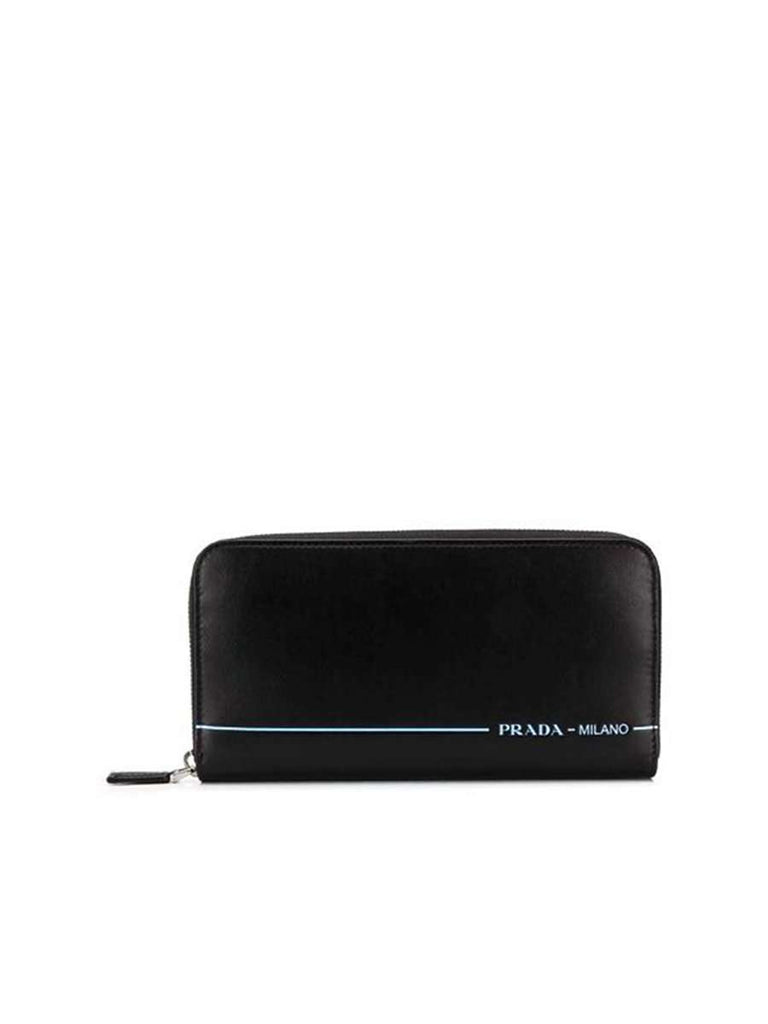 Black Leather Zip City Sport Wallet