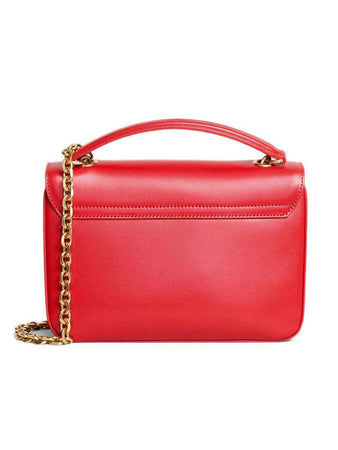 Medium C Bag in Red Shiny Calfskin back