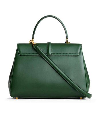 Medium 16 Bag in Malachite Satinated Calfskin back