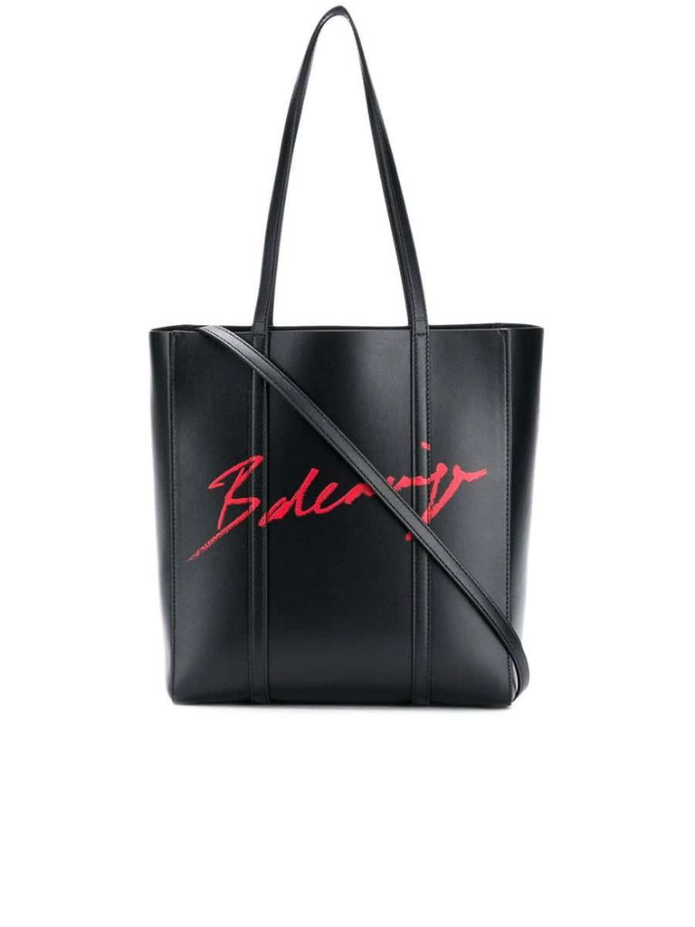 Everyday XS Black Leather Tote Bag