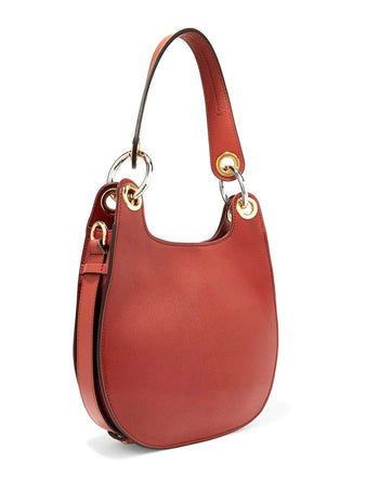 Small Tess Hobo Sepia Brown Leather Shoulder Bag